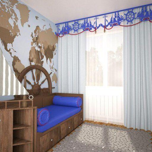 #Оформление интерьера детской комнаты  #Декор комнаты в морском стиле позволит #вашему #малышу почув - lambreken4you
