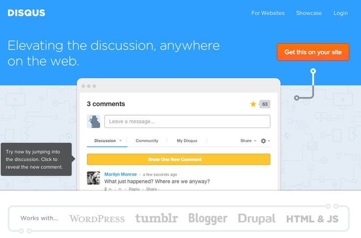 Disqus   Beautiful, real-time, engaging discussions for your website. With a few quick steps, you can turn your old comment system into a new way to engage your visitors. Used on MyNikonLife.com.au