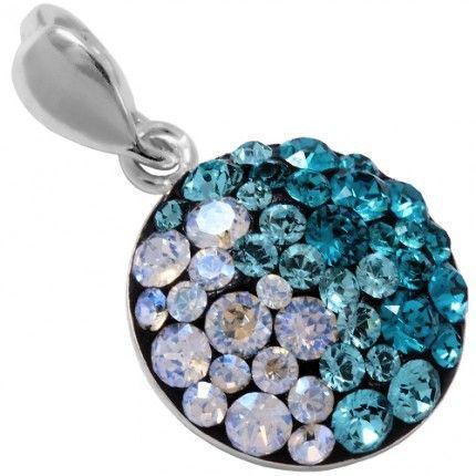 Un pandant superb cu cristale colorate http://www.bijuteriifrumoase.ro/cumpara/pandant-thin-chaton-12-gl-p-3124