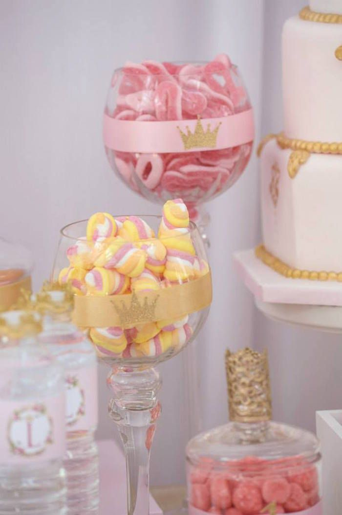 Pink & Gold Princess Party via Kara's Party Ideas |