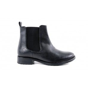 Vegane Damenstiefelette - Wills Chelsea Boot Black