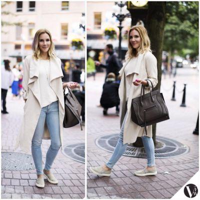 Keratin Coutu @ellecoutu Purse: Celine. Coat: Soia Kyo: @carolinerossphotography #VFWstreetstyle