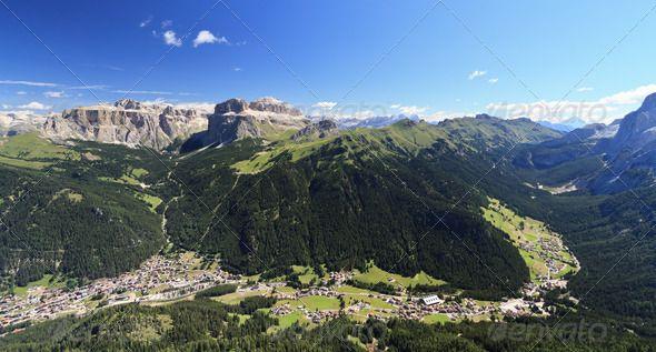 Fassa Valley Val di Fassa by AntonioS. Panoramic view