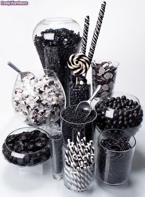 Black Candy Buffet! by candywarehouse, via Flickr #Black Candy #Lolly Buffets #Candy Buffets
