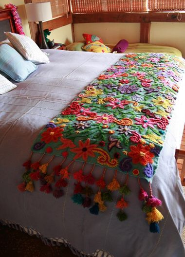 Peruvian needlework! Lovely!