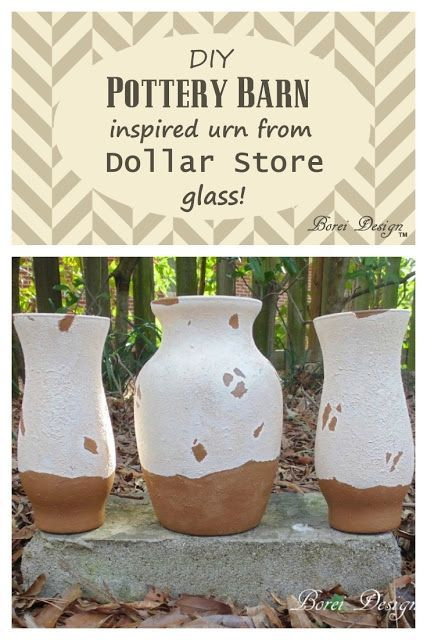 DIY Tutorial How To Make Pottery Barn Inspired Tuscan Urns