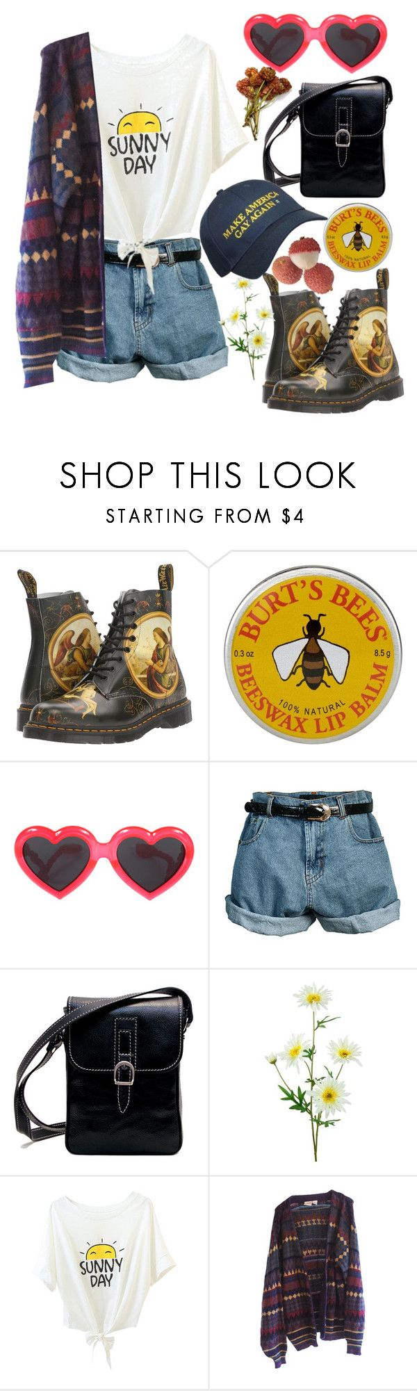 """""""Spring ft The Killers"""" by neo-moth ❤ liked on Polyvore featuring Dr. Martens, Burt's Bees, Linda Farrow and Retrò"""