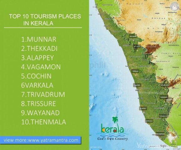 Kerala Tourist Places Map Place Pinterest Tourist Places And Kerala