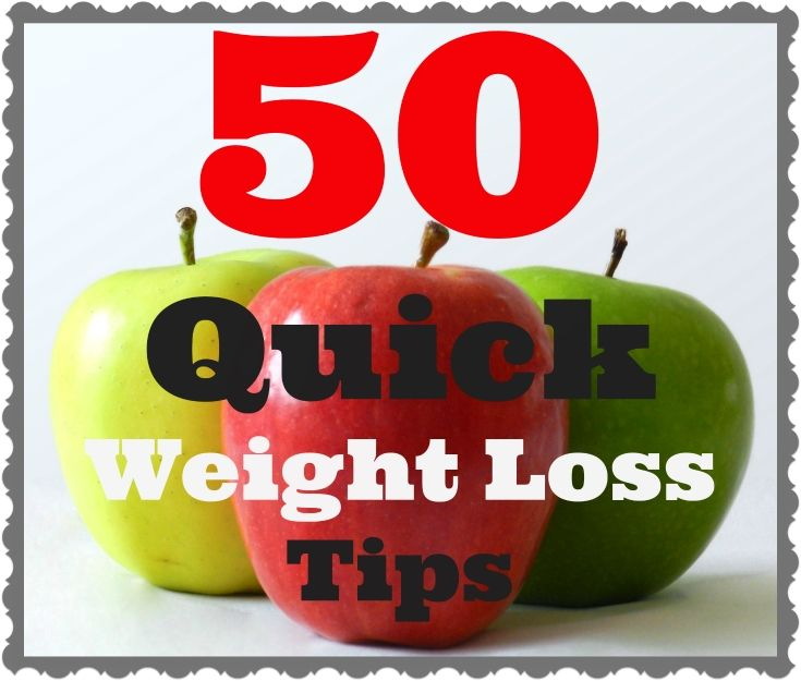 50 Quick Weight Loss Tips from xtine danielle who's on her 6th week of the Quick Weight Loss Center program in Houston, TX and down -26 lbs. Sharing tips