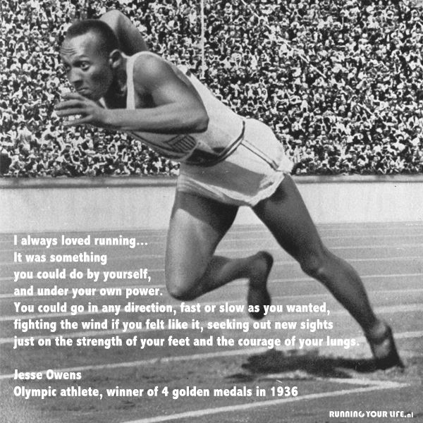 Jesse Owens, Olympic Athlete, proved that individual excellence rather than race or national origin, distinguishes one man or woman from another. In 2016 a movie about this inspiring man and great athlete was released.