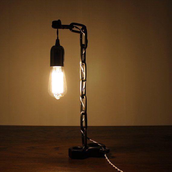 Russell Oak Steel Carsington Industrial Vintage 3 Drawer Etsy Lamp Lamp Holder Lamp Light