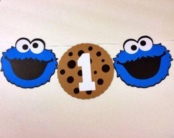 Sesame Street Cookie Monster Milk y cookies feliz cumpleaños