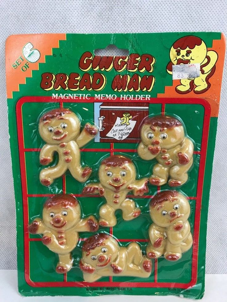 Ginger Bread Man Vintage Magnetic Memo Holders Set Of 6 Collectible   Collectibles, Kitchen & Home, Magnets   eBay!