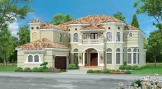 Plan 36526TX: Luxurious Mediterranean House Plan with Wrap-Around Veranda