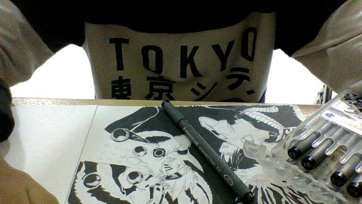 still draw Naruto vs Sasuke and one day i will go to Tokyo