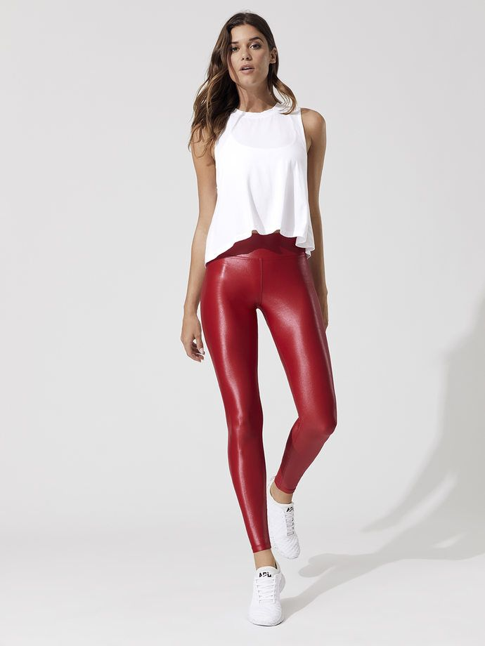 2e9cf14577186f Carbon38 Takara Leggings in 2019   Dress Up   Red leggings, Leggings ...