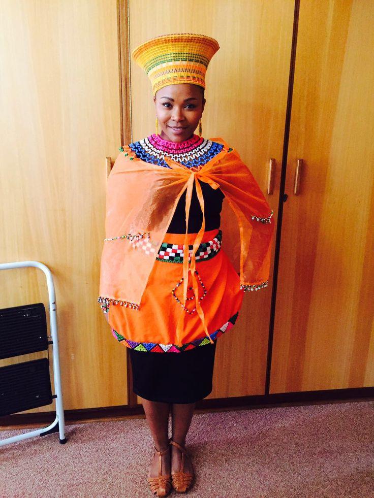 In my Zulu attire at my membeso
