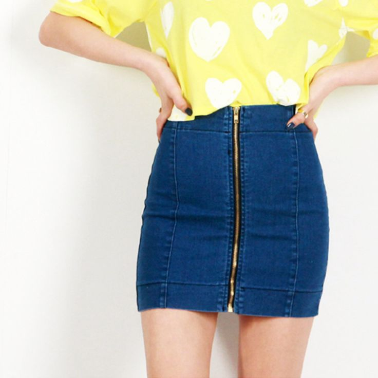 faldas de mezclilla de cintura alta - Buscar con Google