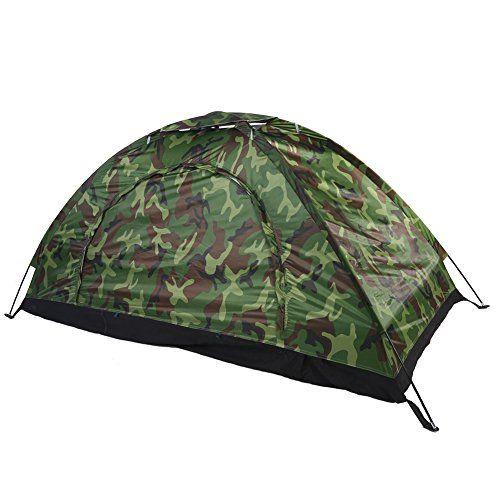 Wurfzelt Camping Wasserdicht Camouflage Trekking Zelt 2-3 People Camping Zelt DE