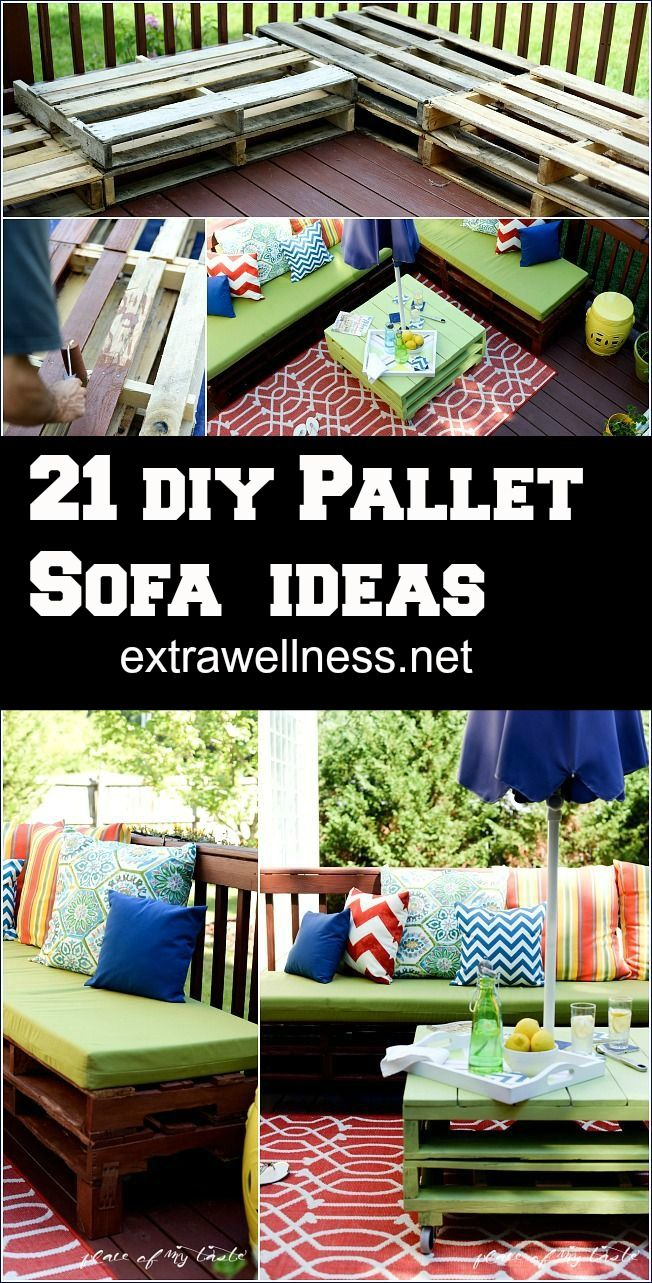 21 DIY Pallet Sofa Ideas, Plans And Photos.. Check out how we made these great outdoor pallet furniture! So good!