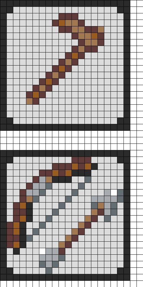 Minecraft Coaster Pt 2 Perler Bead Pattern | Bead Sprites | Misc Fuse Bead Patterns