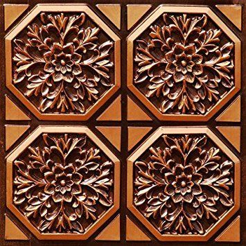 Discounted Tin Like Antique Copper Ceiling Tile 108 FIRE Rated Can Be Glue on Clean Smooth Flath Surface Also Can Glued Over Secure Popcorn Ceiling Pvc 24 *** Continue to the product at the image link.