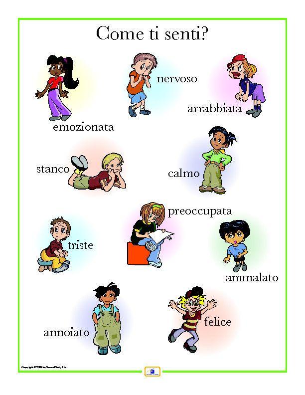 Italian Emotions Poster