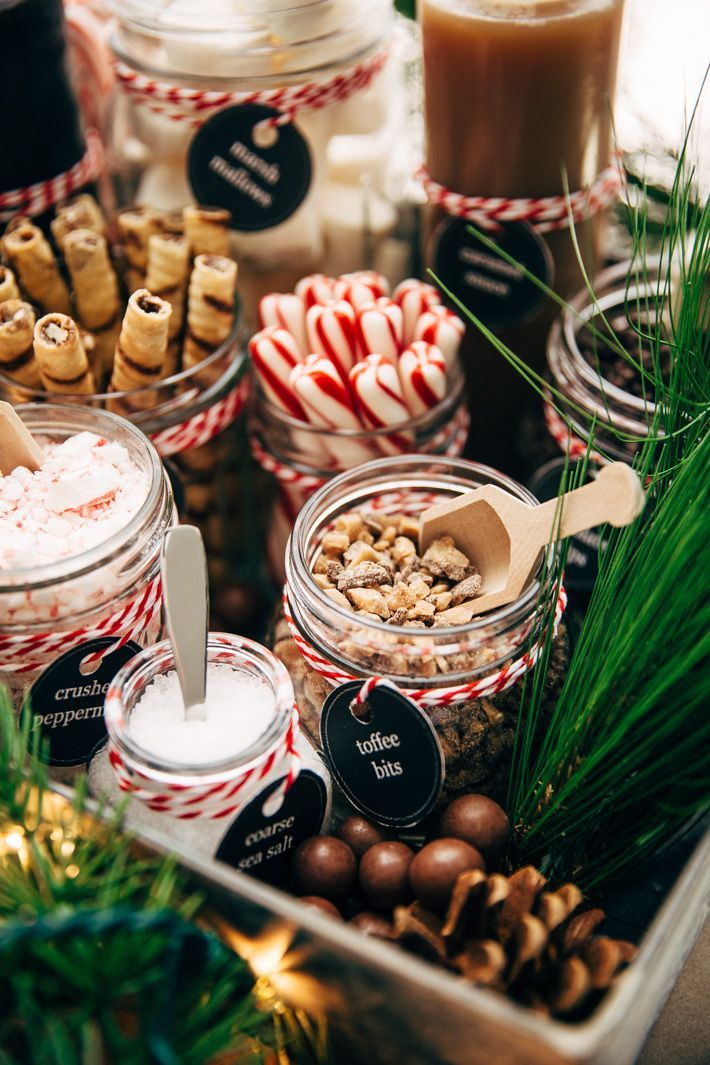 DIY Hot Chocolate Bar Party - Learn how to set up your own hot chocolate bar! Tons of printables, decorating ideas, and toppings! Plus, the most luxurious hot chocolate recipe!