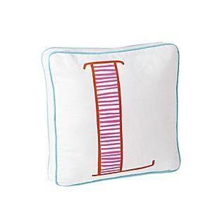 Schoolhouse Letter Pillow – Juice/Orange #serenaandlily