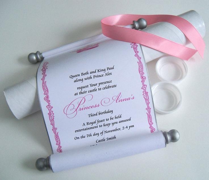 7 best Debut invitation ideas images – Princess Scroll Birthday Invitations