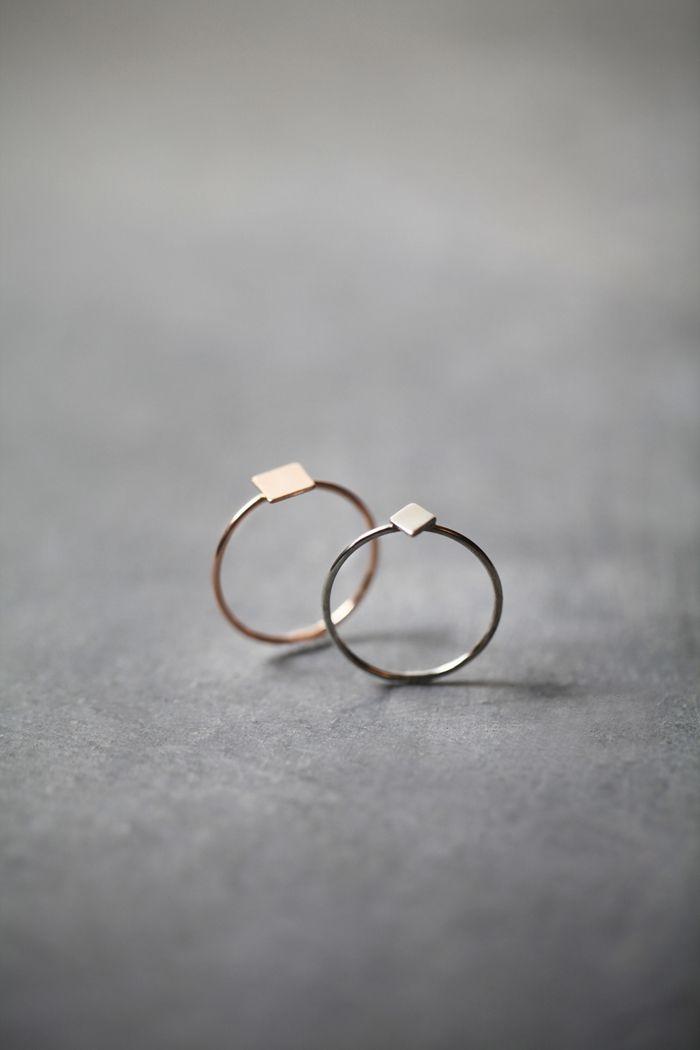 Making Shapes Skinny Rings