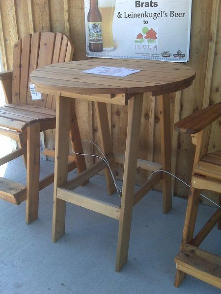 Adirondack Bar Table Adirondack Chairs Pinterest