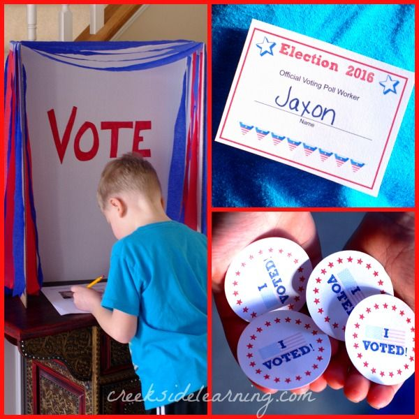 Elections for Kids: How to Make a Kids Voting Booth | Creekside Learning