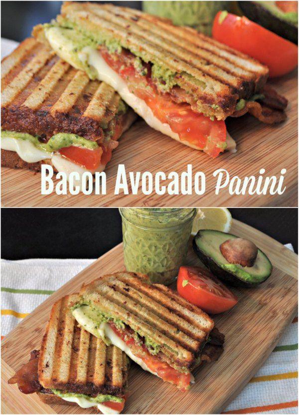 Bacon and Avocado Pesto Panini