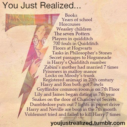 7 Years at Hogwarts  17 is when you become an adult in the wizarding world      7 Is a lucky number (: