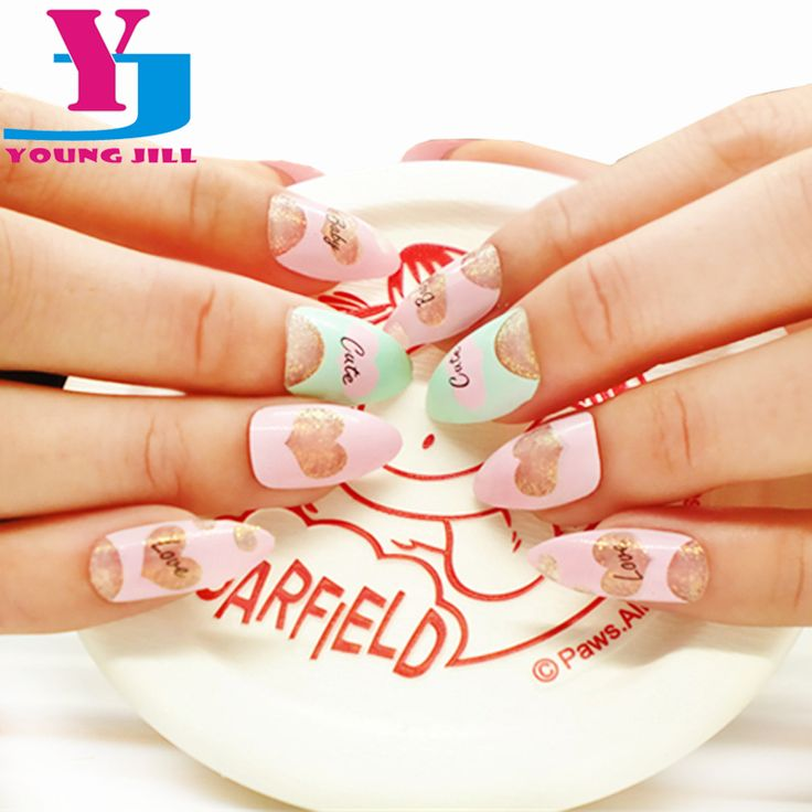 Find More False Nails Information about 24 pcs/set Decorated False Nails Pre Design Acrylic Fake Nails Full French Nail With Free Glue Stiletto Nails Tips Cute Style,High Quality acrylic nail brushes suppliers,China nail salon design pictures Suppliers, Cheap nails pattern from YOUNG JILL CO.,LTD on Aliexpress.com
