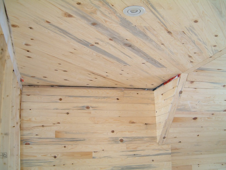 Upstairs all knotty pine by Ted and Gail.
