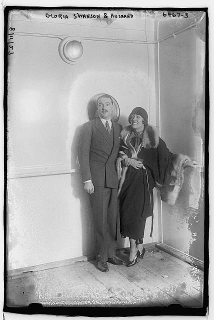 Gloria Swanson and husband Henri de la Falaise