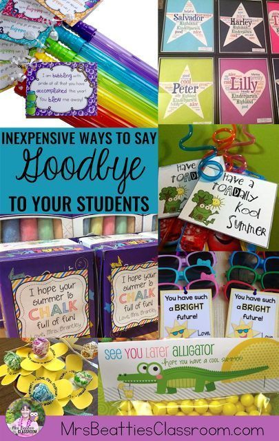 How do you say goodbye to your students at the end of the school year? Check out these 10+ ideas for inexpensive gifts for kids with love from the teacher!