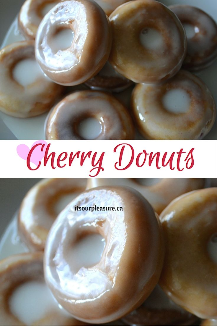This donut incorporates the sweet and sour with cherry bits and a lemon glaze. It's a perfect bite sized snack to go with coffee or even dessert!