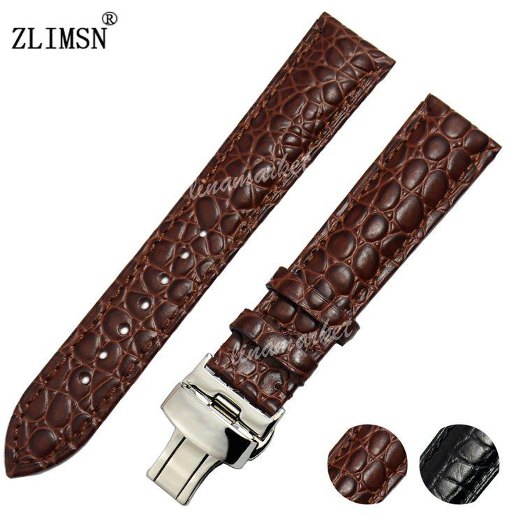 $7.28 (Buy here: https://alitems.com/g/1e8d114494ebda23ff8b16525dc3e8/?i=5&ulp=https%3A%2F%2Fwww.aliexpress.com%2Fitem%2F18mm-20mm-New-Brown-Short-Crocodile-grain-Genuine-Leather-Watch-Band-strap%2F32654380310.html ) ZLIMSN 18mm 20mm  Brown Short Crocodile grain Genuine Leather Watch Band strap Men Women Digital Watch Band Leather for just $7.28