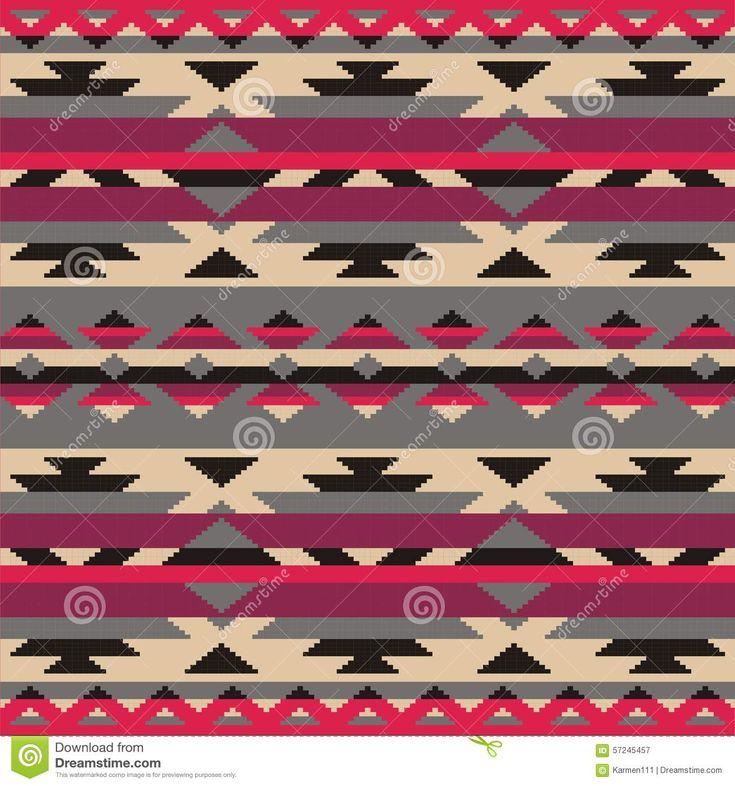 Sier patroon voor het breien en borduurwerk Indianen, Navajo, stammen, etnische stof