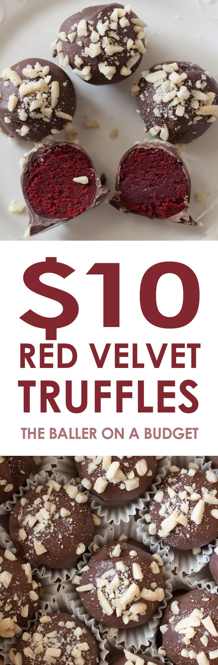These quick and delicious red velvet Truffles cost less than $10 to make and are perfect for holiday feasts and Christmas presents!