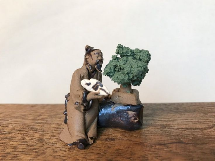 "1.5"" Bonsai Master Mud Man Figurines"
