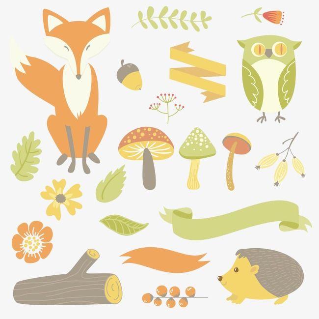 L'automne,Renard,Des branches,Dessin de feuilles,Des éléments de la forêt