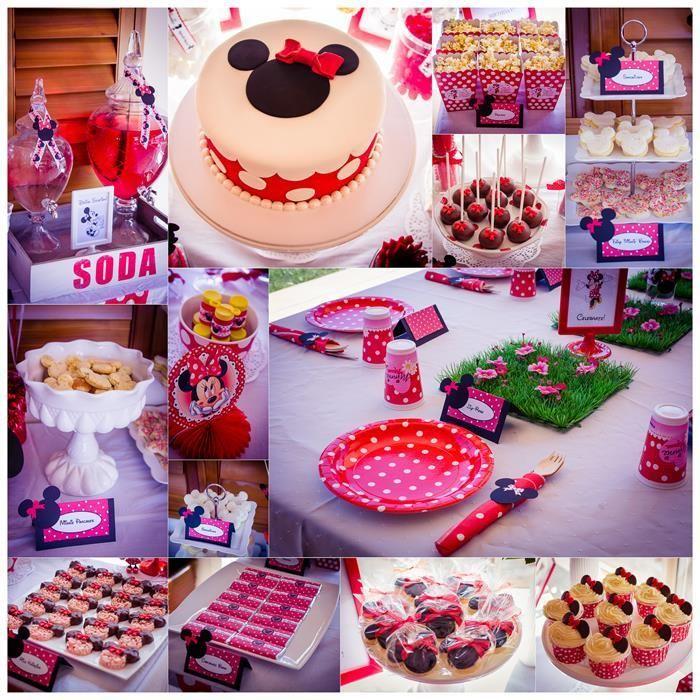 Minnie Mouse Party With So Many Really Cute Ideas Via Karas