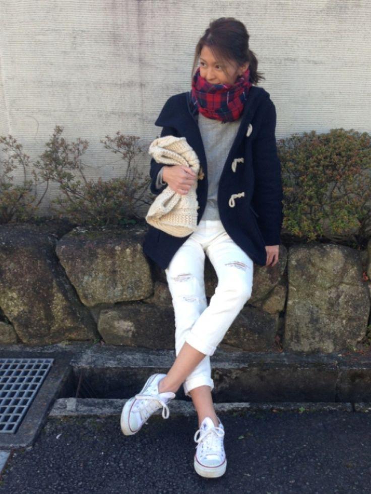 yukoさんのダッフルコート「Ungrid 【Casual】ミドル丈ダッフルコート」を使ったコーディネート