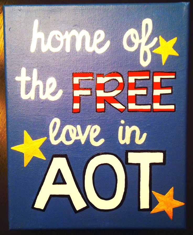 """home of the free love in AOT"" Kappa Delta Canvas!!!"