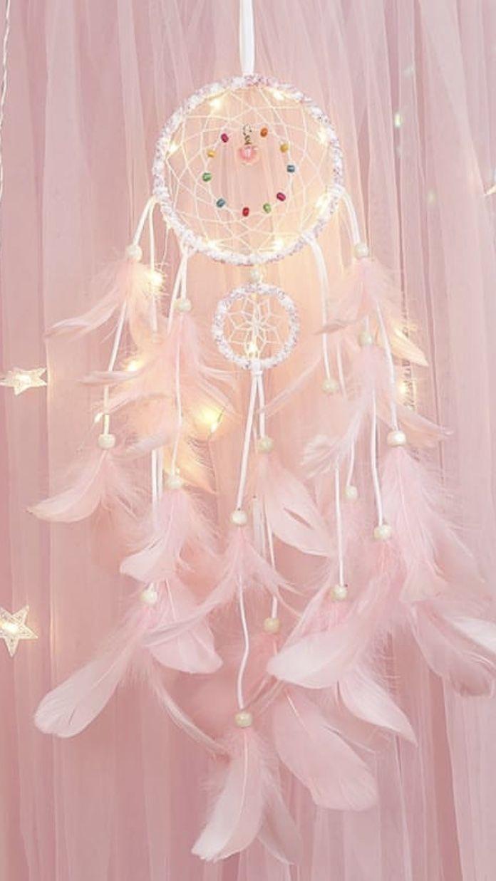 Pink Dream Catcher Wallpaper Light Pink Walls Pastel Pink Aesthetic Pink Wallpaper Iphone