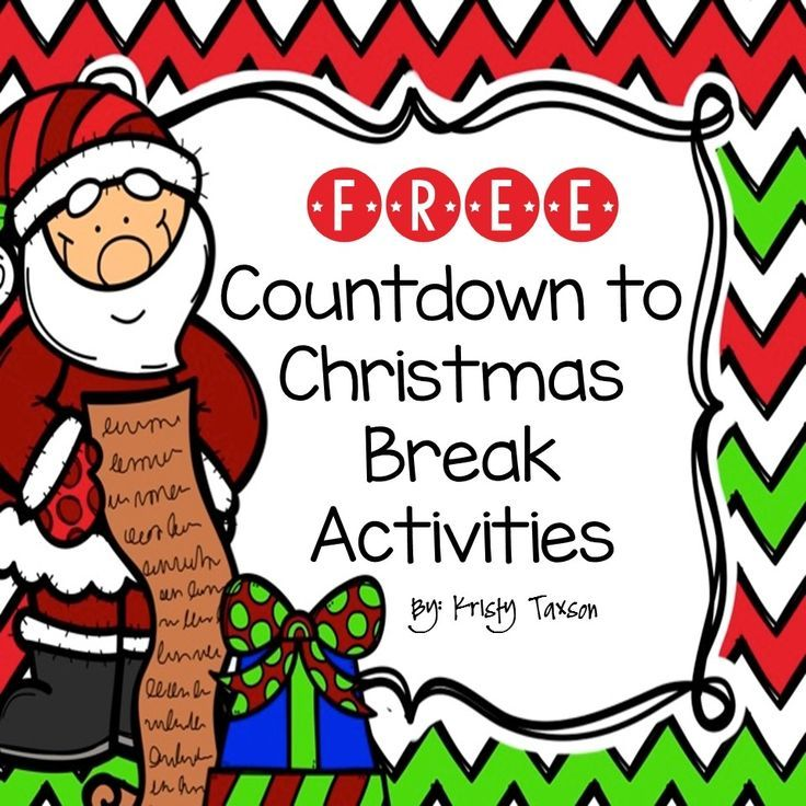 FREE Countdown to Christmas Break Activity Printables! from sponsor @educents -- limited time offer!